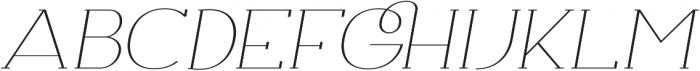 Archivio Italic Slab Contrasted 400 otf (400) Font UPPERCASE