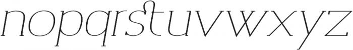Archivio Italic Slab Contrasted 400 otf (400) Font LOWERCASE
