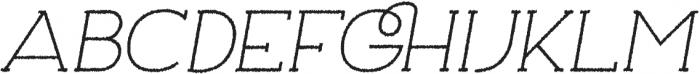 Archivio Italic Slab Rough 400 otf (400) Font UPPERCASE