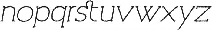 Archivio Italic Slab Rough 400 otf (400) Font LOWERCASE