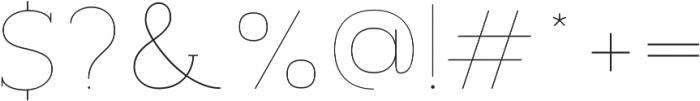 Archivio Slab 100 otf (100) Font OTHER CHARS