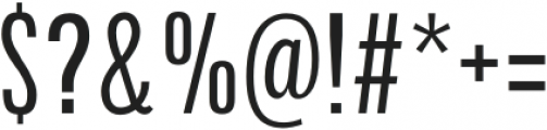 Arda Condensed otf (400) Font OTHER CHARS