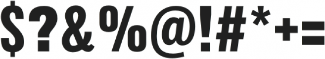 Arda ExtraBold Condensed otf (700) Font OTHER CHARS