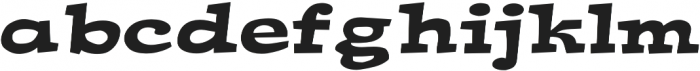 Ardenia Expanded Bold otf (700) Font LOWERCASE