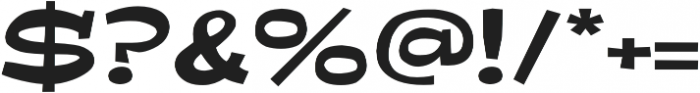 Ardenia Expanded Regular otf (400) Font OTHER CHARS