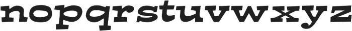 Ardenia Expanded Regular otf (400) Font LOWERCASE