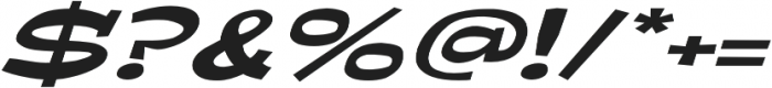 Ardenia Extra-expanded Italic otf (400) Font OTHER CHARS