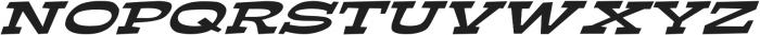 Ardenia Extra-expanded Italic otf (400) Font UPPERCASE