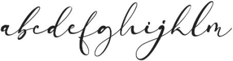 Arellia otf (400) Font LOWERCASE