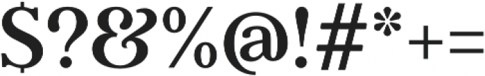Argent CF Extra Bold Italic otf (700) Font OTHER CHARS