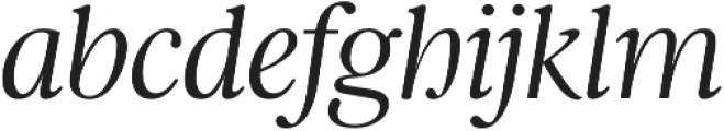 Argent CF Thin Italic otf (100) Font LOWERCASE