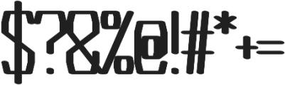 Argent regular otf (400) Font OTHER CHARS