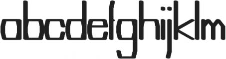 Argent regular otf (400) Font LOWERCASE