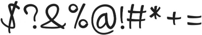 Aribola Regular otf (400) Font OTHER CHARS