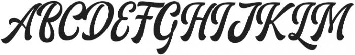 Ariestha Regular otf (400) Font UPPERCASE