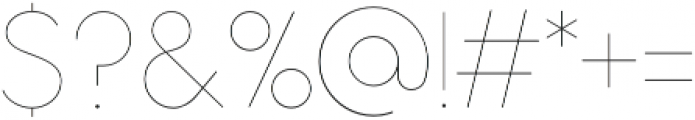 Aristotelica Display Hairline otf (100) Font OTHER CHARS