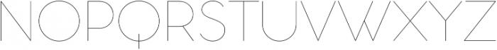Aristotelica Display Hairline otf (100) Font UPPERCASE