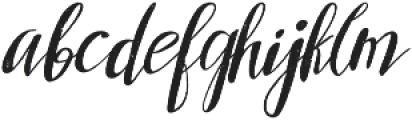 Arkana Script Rough otf (400) Font LOWERCASE