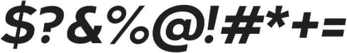 Arkibal Display Bold Italic otf (700) Font OTHER CHARS