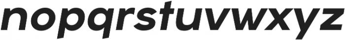 Arkibal Display Bold Italic otf (700) Font LOWERCASE