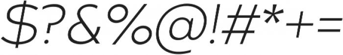Arkibal Display Light Italic otf (300) Font OTHER CHARS