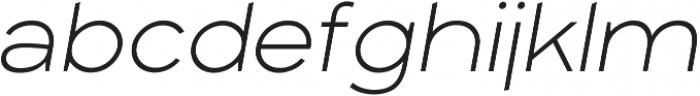 Arkibal Display Light Italic otf (300) Font LOWERCASE