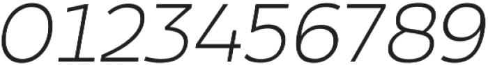 Arkibal Light Italic otf (300) Font OTHER CHARS