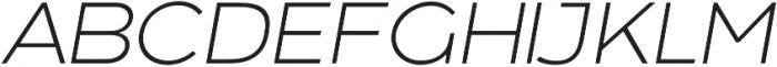 Arkibal Light Italic otf (300) Font UPPERCASE