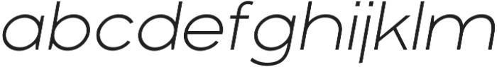 Arkibal Light Italic otf (300) Font LOWERCASE