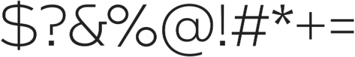Arkibal Mono Light otf (300) Font OTHER CHARS