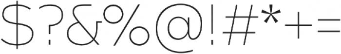 Arkibal Mono otf (100) Font OTHER CHARS