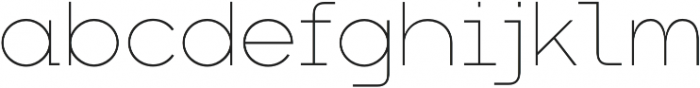 Arkibal Mono otf (100) Font LOWERCASE