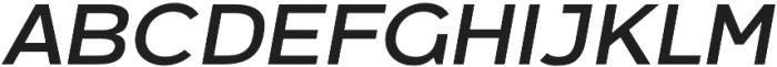 Arkibal Regular Italic otf (400) Font UPPERCASE