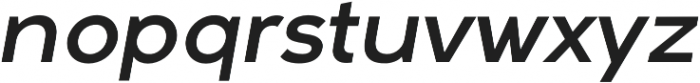 Arkibal Regular Italic otf (400) Font LOWERCASE