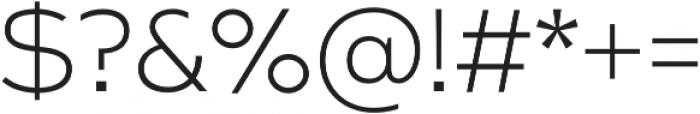 Arkibal Serif Light otf (300) Font OTHER CHARS