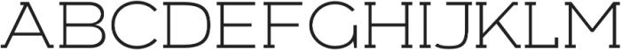 Arkibal Serif Light otf (300) Font UPPERCASE