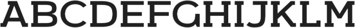 Arkibal Serif Regular otf (400) Font UPPERCASE