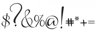 Arlisa Script Regular otf (400) Font OTHER CHARS