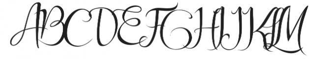 Arlisa Script Regular otf (400) Font UPPERCASE