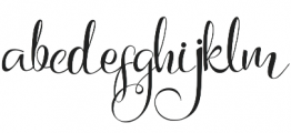 Arlisa Script Regular otf (400) Font LOWERCASE