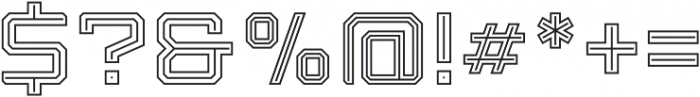 Armadura Double Line Regular otf (400) Font OTHER CHARS