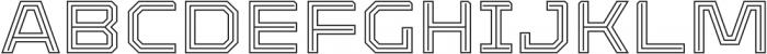 Armadura Double Line Regular otf (400) Font UPPERCASE