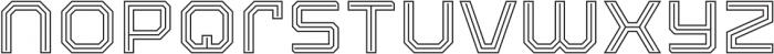 Armadura Double Line Regular otf (400) Font LOWERCASE