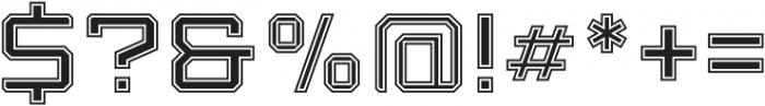 Armadura Inline 2 Regular otf (400) Font OTHER CHARS