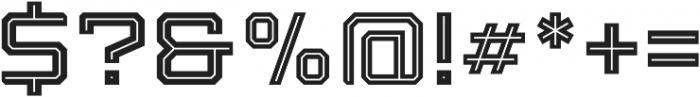 Armadura Inline Regular otf (400) Font OTHER CHARS