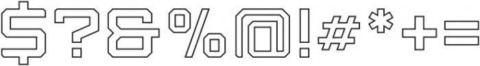 Armadura Outline Regular otf (400) Font OTHER CHARS