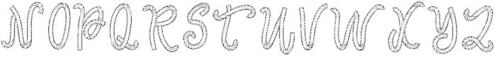 AropeFont1 Regular otf (400) Font UPPERCASE