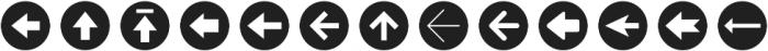 Arrrows Bold otf (700) Font UPPERCASE