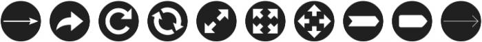 Arrrows Bold ttf (700) Font OTHER CHARS