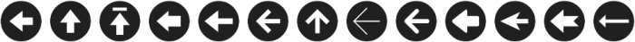 Arrrows Bold ttf (700) Font UPPERCASE